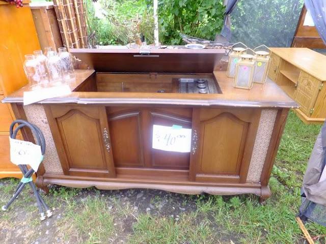 4 the love of wood: YARD SALE SEASON - stereo cabinet inspiration