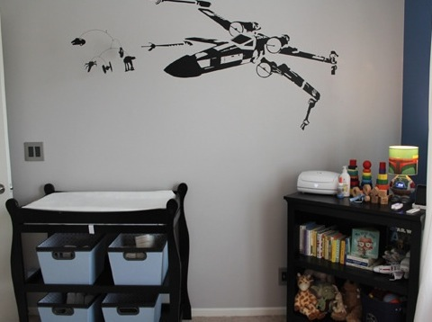 Cute I love the modern bold lines and that mom Abby didn ut go overboard with the details Plus no need to break out the paintbrush the quote and wall art are