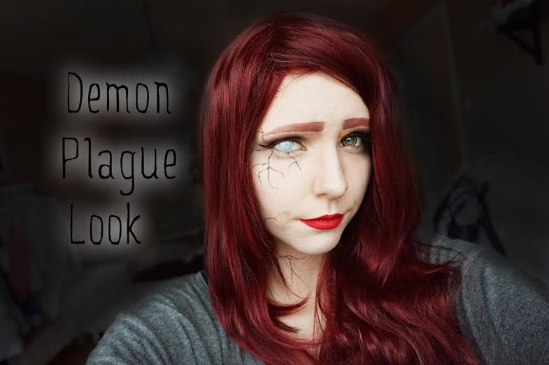 Demon halloween makeup