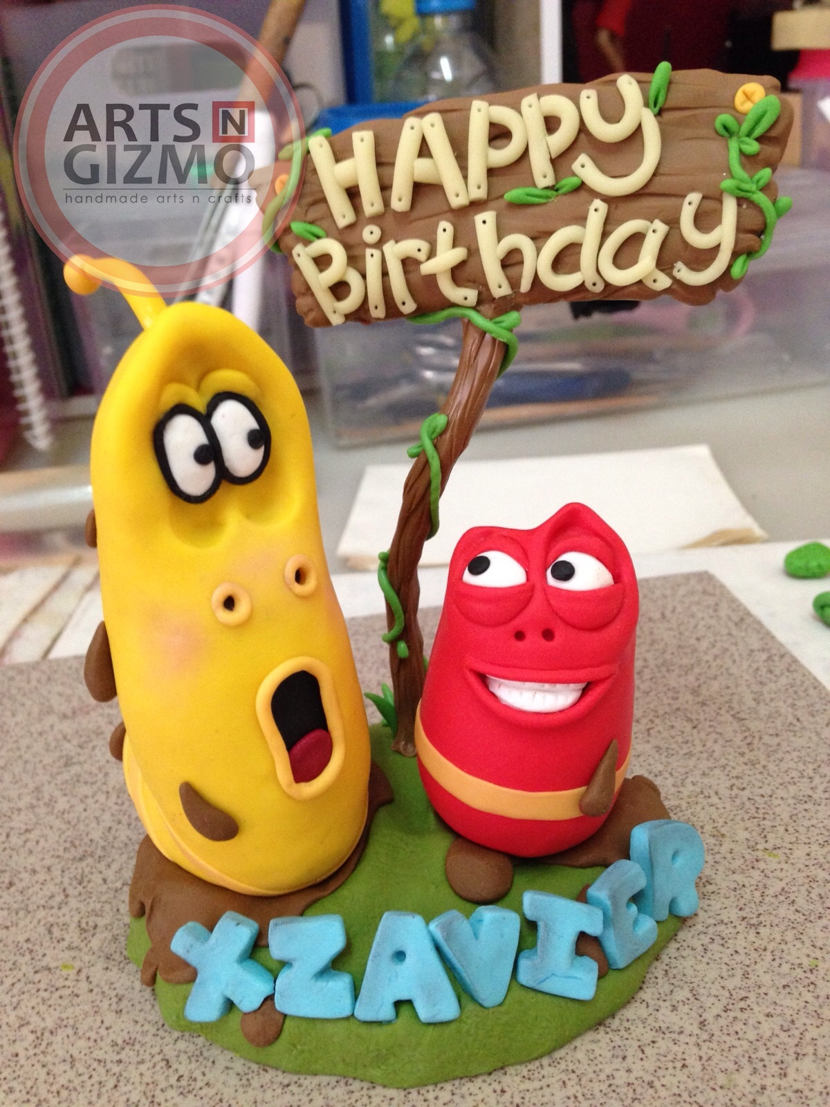 Larva Cartoon Cake Design : Funtastic Arts-n-Gizmo - Handmade arts and crafts: Korean ...