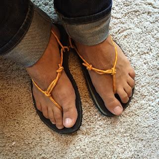 les sandales huaraches de Mat