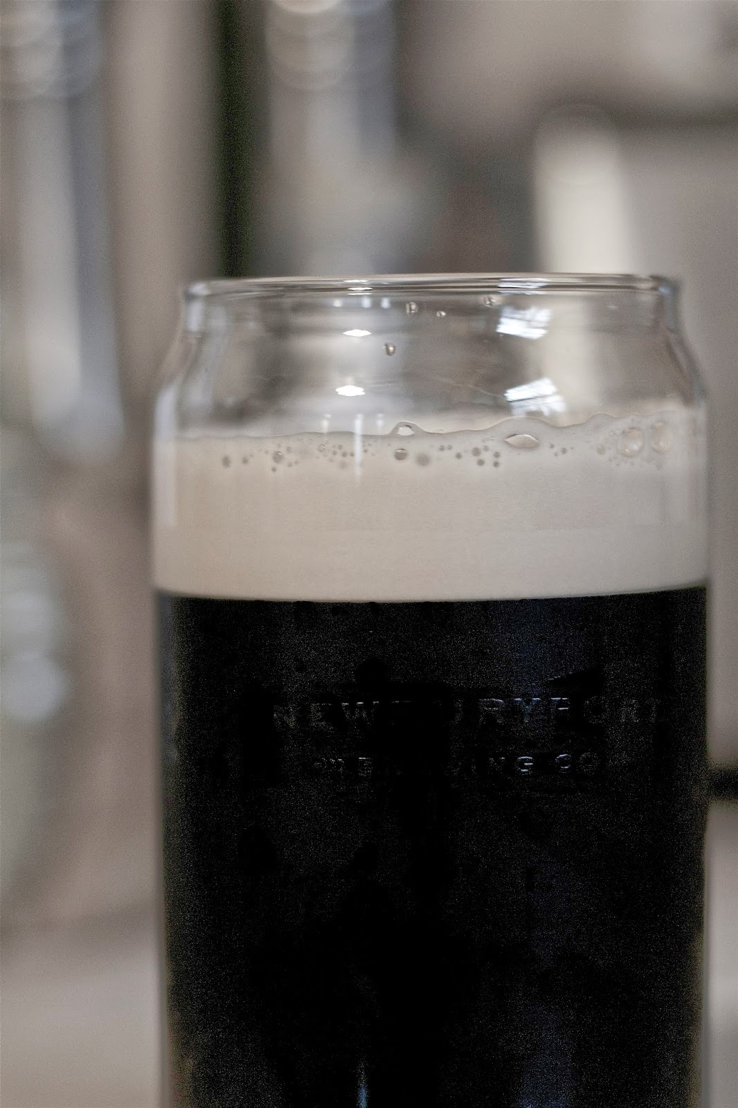 Left Hand nitro stout, perfect after cleaning on a rainy day.