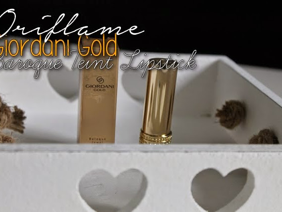 Oriflame Giordani Gold Baroque Teint Lipstick - Nude Intrique.
