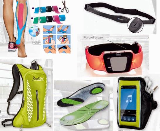 accesorios deportivos Lidl mochila cintas kinesiológicas cinturón cardio-torácico mochila plantillas deportivas brazalete deportivo