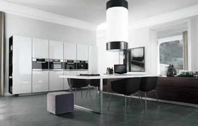 contemporary minimalist kitchen design and ideas in white