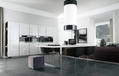 contemporary minimalist kitchen design and ideas in white