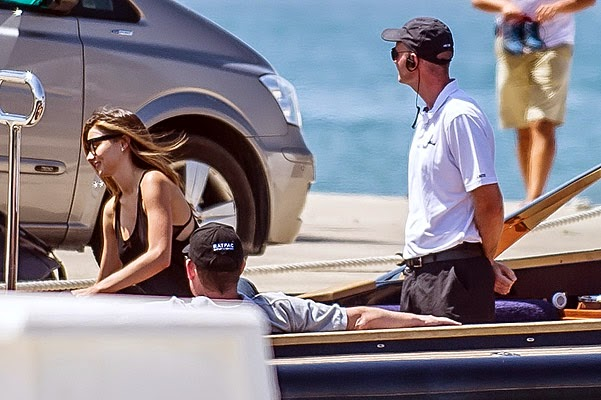 Miranda Kerr is seen on a yacht