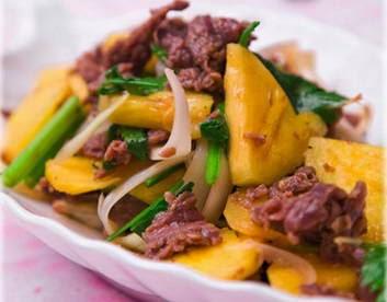 Cách làm món Thịt bò xào dứa ngon