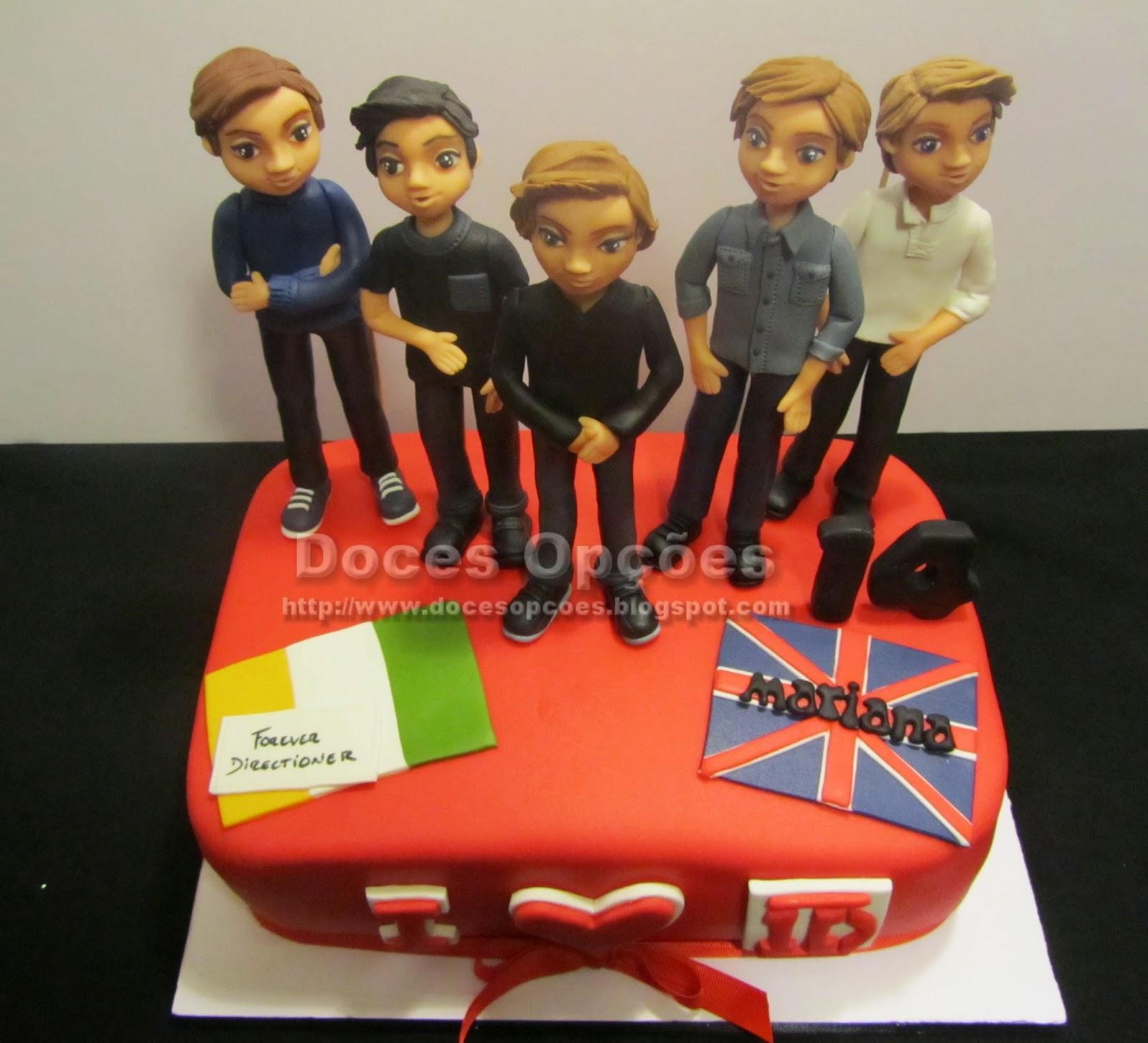 bolo aniversário one direction