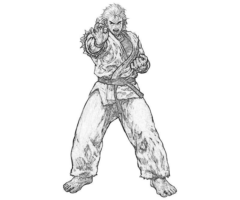 king-of-fighters-ryo-sakazaki-profil-coloring-pages
