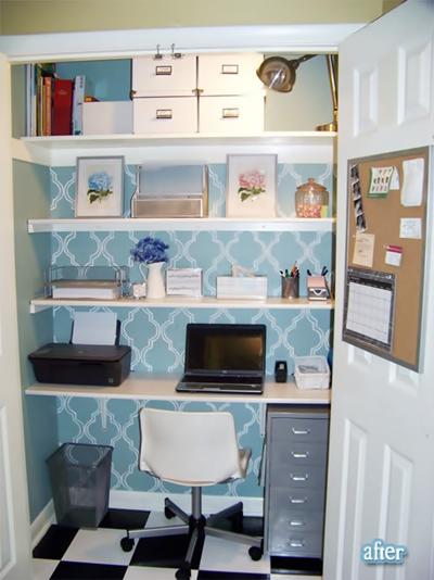 ukryte biurko, komputer w szafie, hidden desk, domowe biurojak sprytnie ukryć domowe biuro, komputer