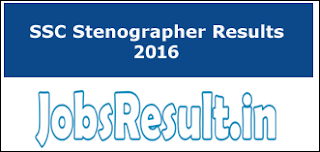 SSC Stenographer Results 2016