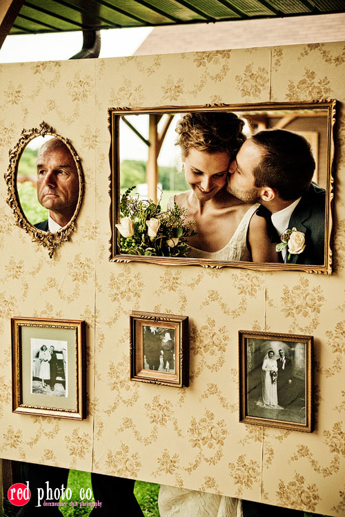 are here home wedding chalkboard wedding photo booth with