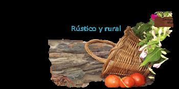 rústico y rural