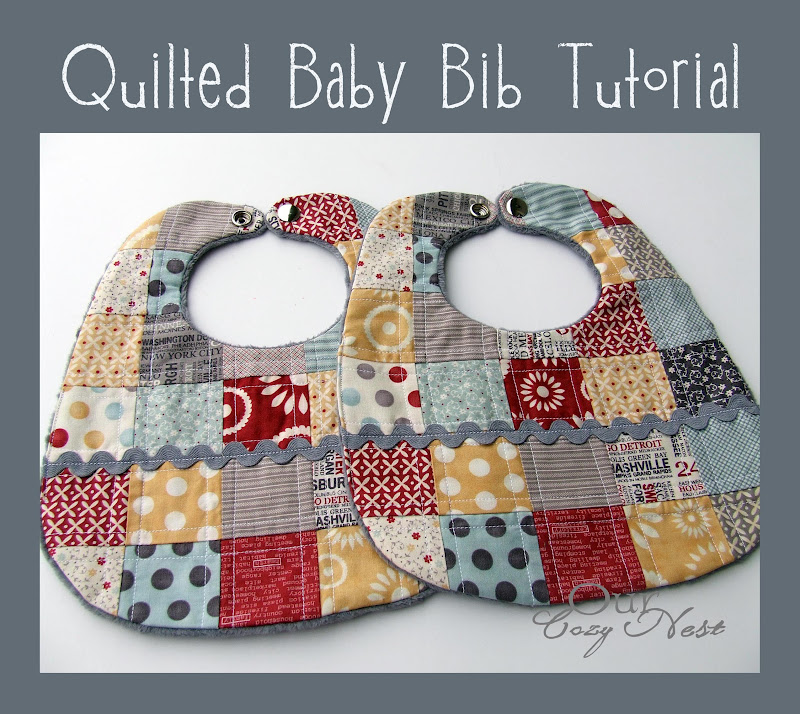Free Patterns For Quilted Baby Bibs : Our Cozy Nest: Quilted Baby Bib Tutorial