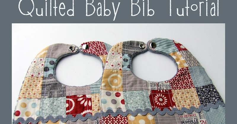 how to make a quilted baby bib