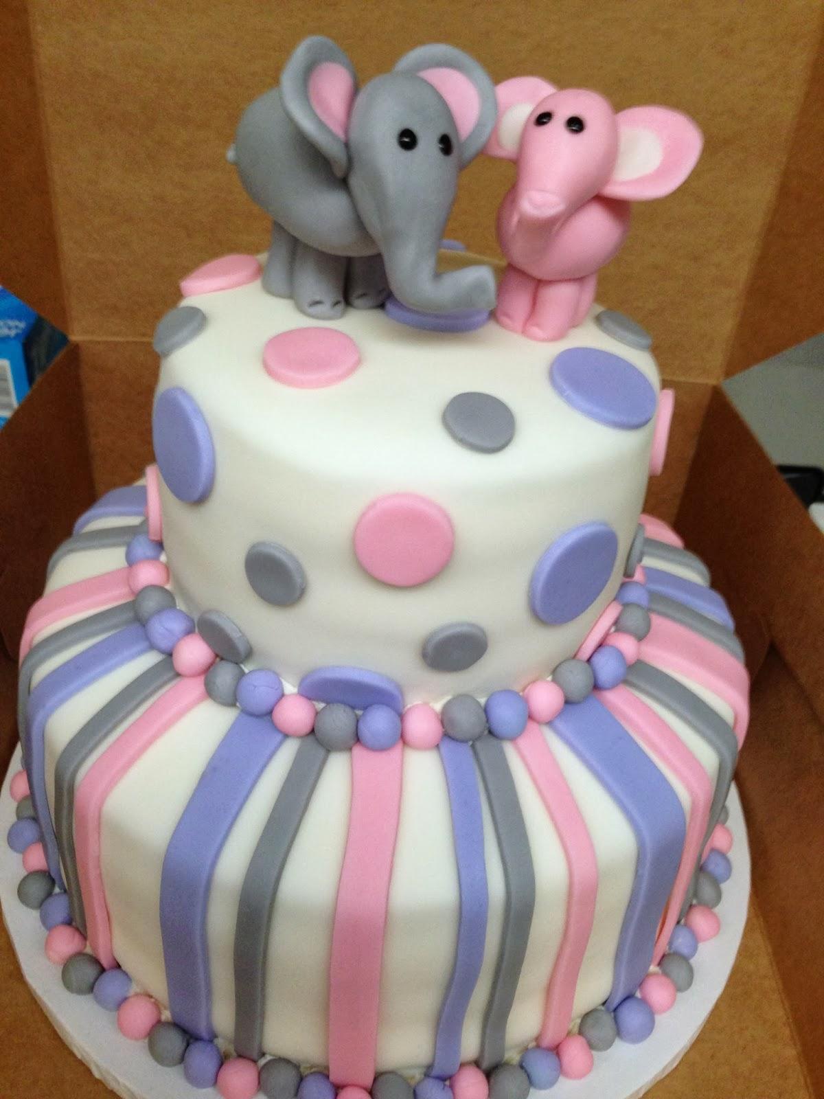 plumeria cake studio elephant baby shower cake