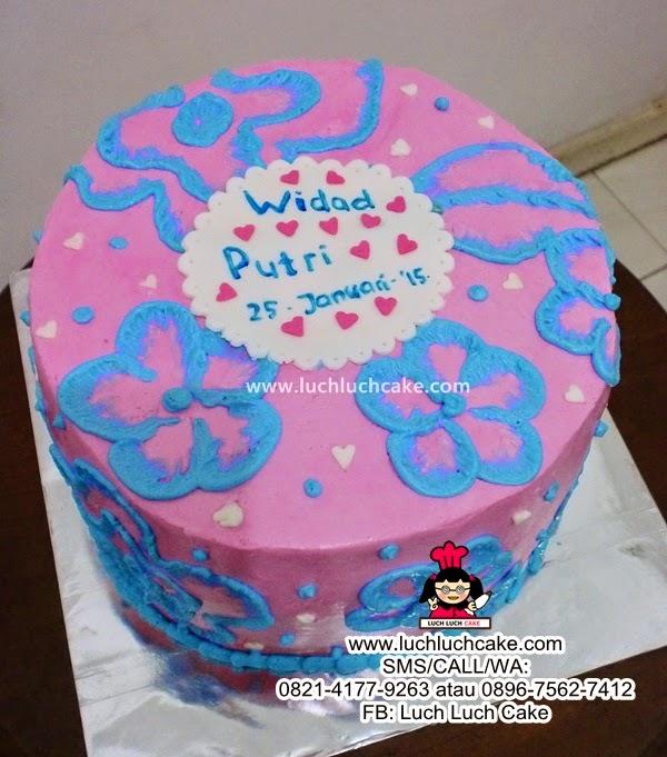 Kue Tart Simpel Pink dan Biru Daerah Surabaya - Sidoarjo