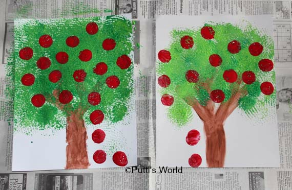 Fall crafts for kids Apple Tree