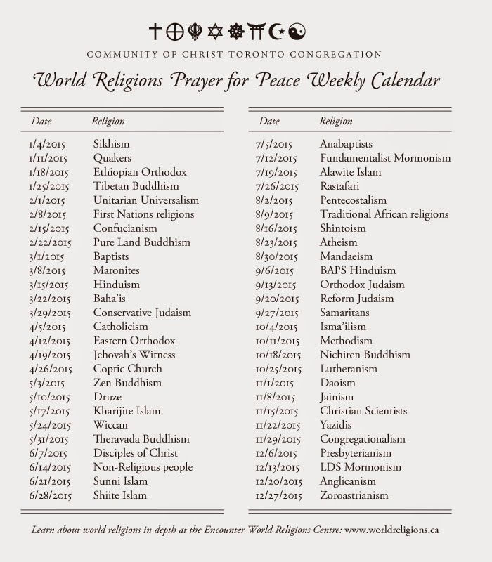 Toronto Congregation At Centre Place World Religions Prayer For - How many religions in the world 2015