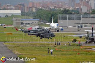 """Helicópteros Mi-17 del Batallón de Aviación N°3 """"Carga y Transporte""""."""