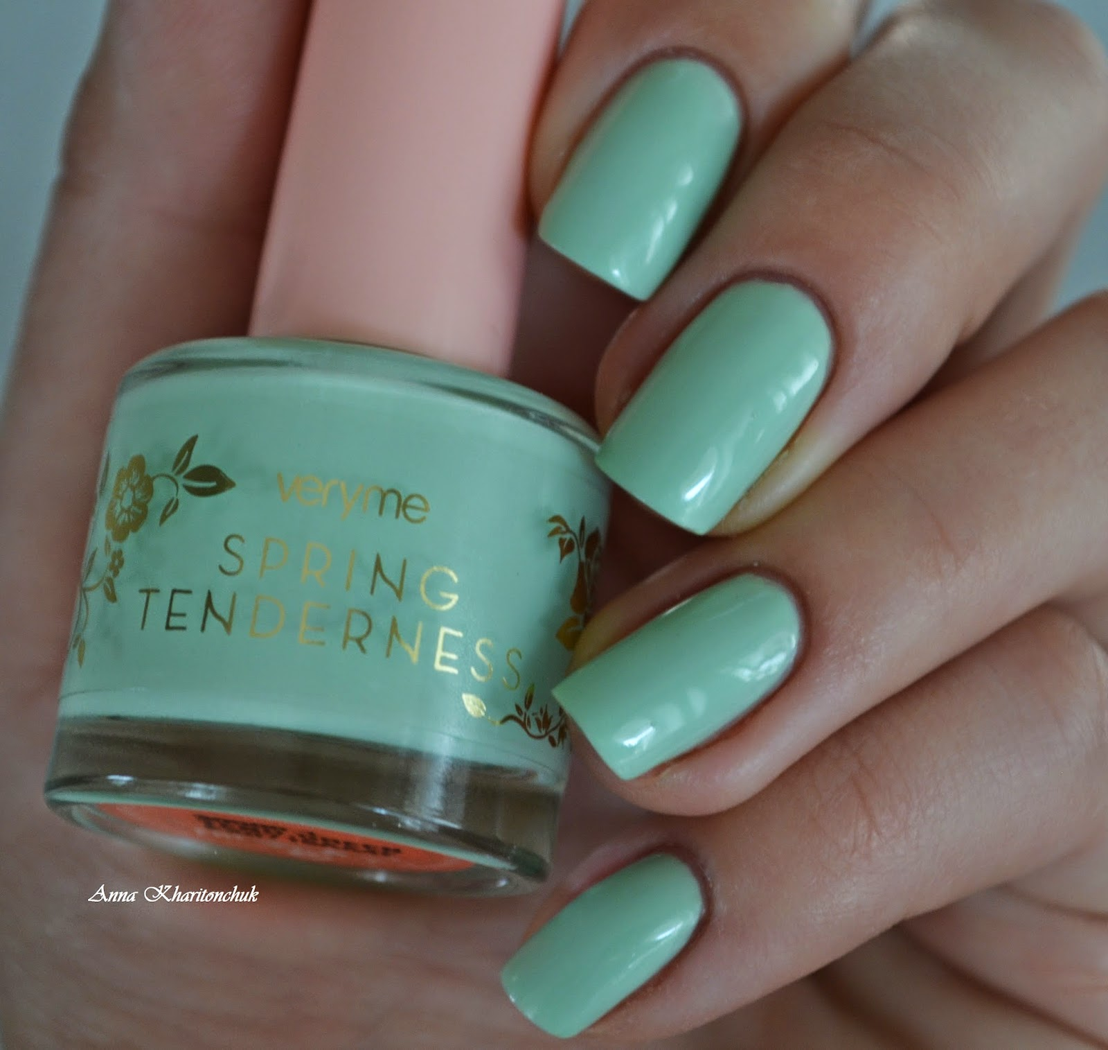 Oriflame Veryme Spring Tenderness Tend Green и стемпинг Born Pretty Store