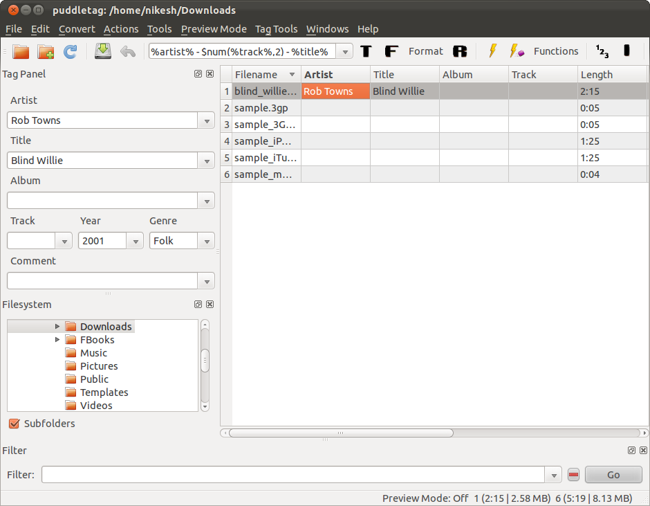 Audio Tag Editor for Linux - Puddletag | Linux Blog