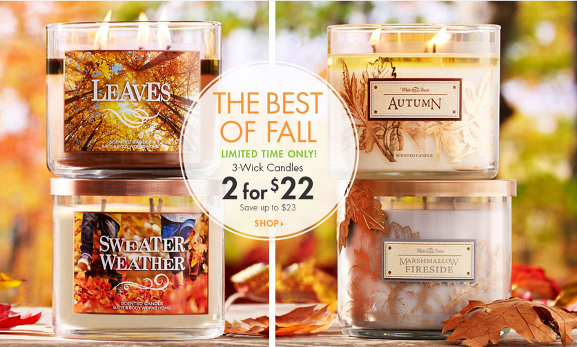 Fall Scents, 2 for $22 sale