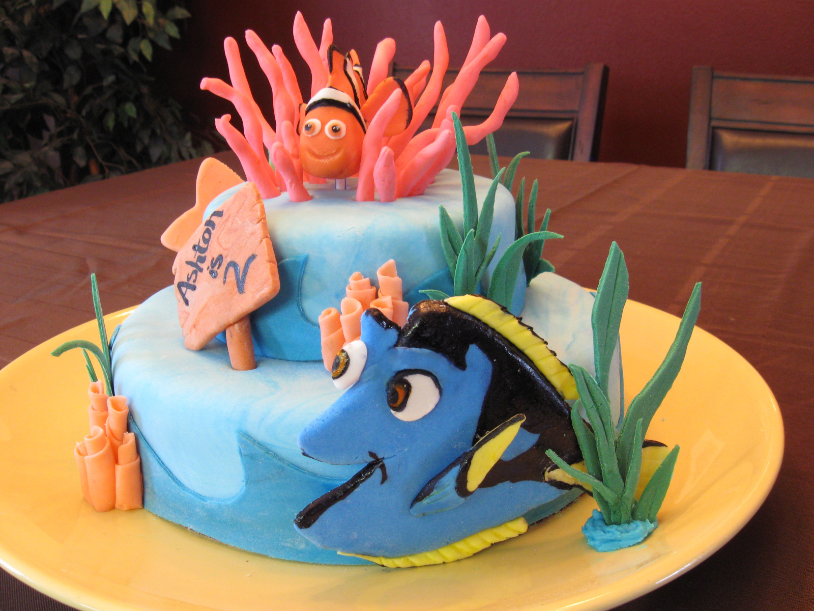 Cakes By Cami Jo Nemo Cake - Nemo fish birthday cake
