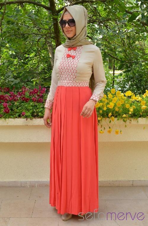 Hatunca 2013 İlkbahar Yaz Tesettür Elbise Modelleri