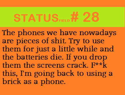 funny smartphone quote status