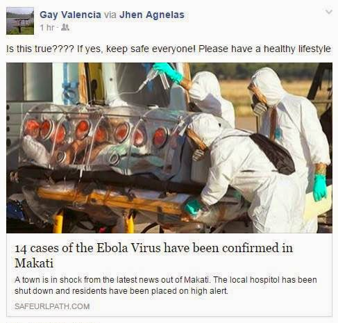 Ebola in Cavite, Iloilo, Makati, Philippines hoax