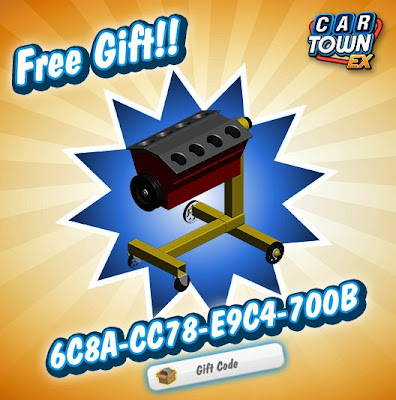 Car Town EX Free Gift Engine on Stand