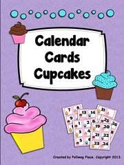 Cupcakes Calendar Cards