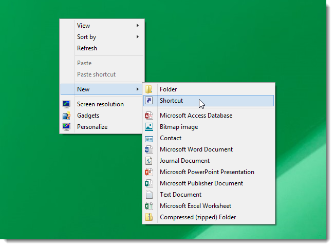 Cara Membuat Shortcut Search Windows 8.1