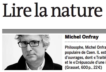 الفلسفة في ازدهار بفضل جامعة الأستاذ اونفري الشعبية  Michel Onfray