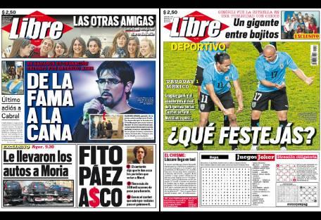 Tapa diario libre fito paez report show el mundo del for Diario el show del espectaculo