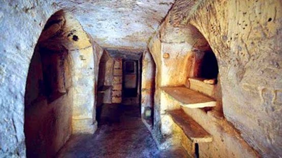 The ancient catacombs of Malta