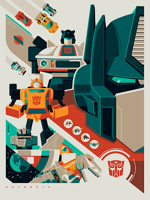 New York Comic-Con 2012 Exclusive Transformers Screen Prints by Tom Whalen - Autobots