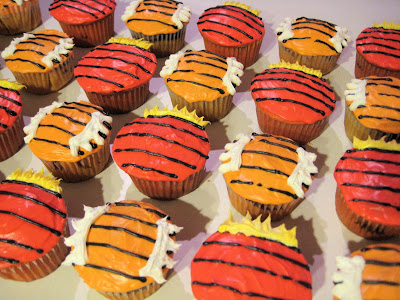 Calvin and Hobbes Themed Cupcakes - Angled View
