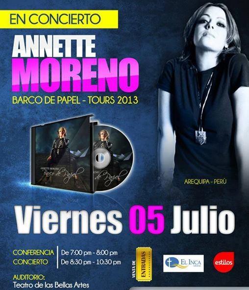 Annette Moreno en Arequipa (05 julio)