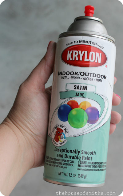 Jade satin Krylon spray paint - thehouseofsmiths.com