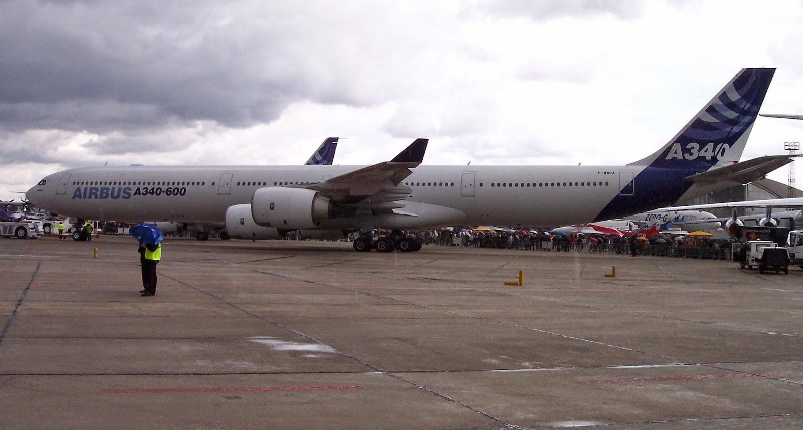 Pesawat Terbesar di Dunia ke-2 Airbus A340-600