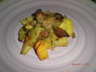 spezzatino di bovino ai porri e patate dolci