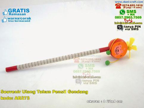 Souvenir Ulang Tahun Pensil Gendang