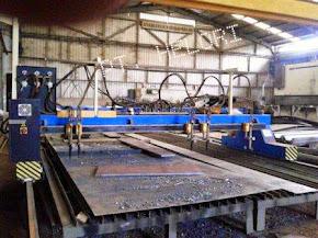 Proses Potong Plasma (Laser Api) dengan Mesin Plasma Cutter CNC