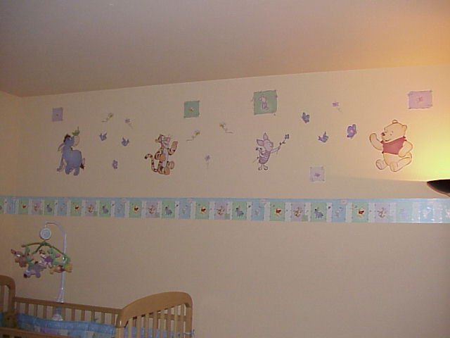 Furniture wallpaper for child room helloktity for Wallpaper borders for bedrooms