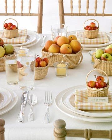 Cestitos con frutas también para los invitados a la boda