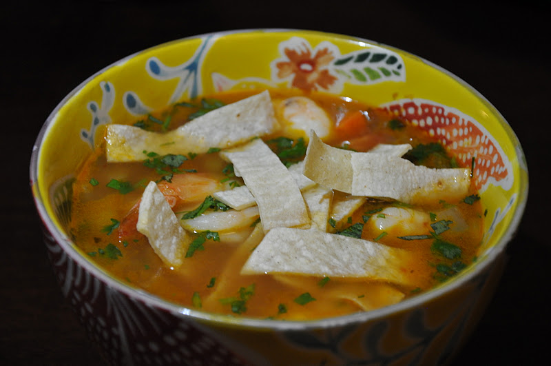 Slice Of Rice Smoky Shrimp Hominy And Tortilla Soup