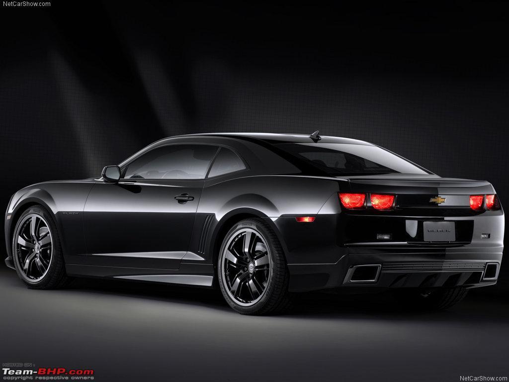 Wallpapernarium Un Chevrolet Camaro Negro Un Auto Estupendo